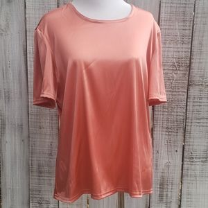 Double D Ranch L Shiny Shimmer Blouse Tee
